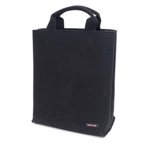 Schwarze Filztasche