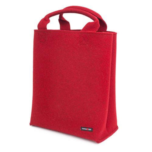 Roter Filztasche-Shopper