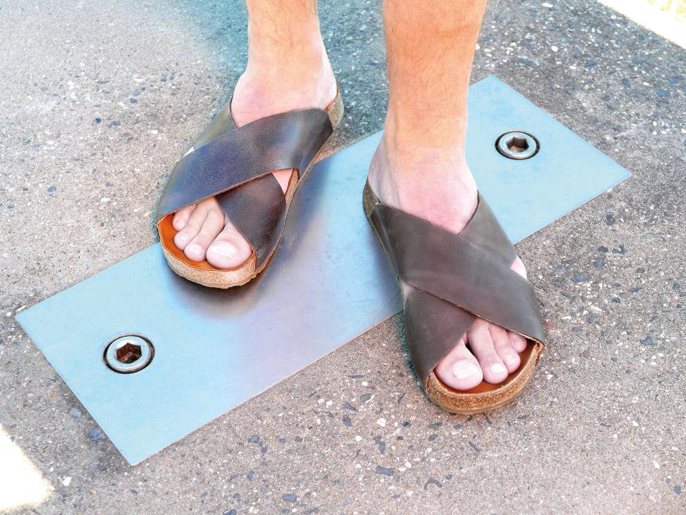 Zweiriemer Sandale für Herren