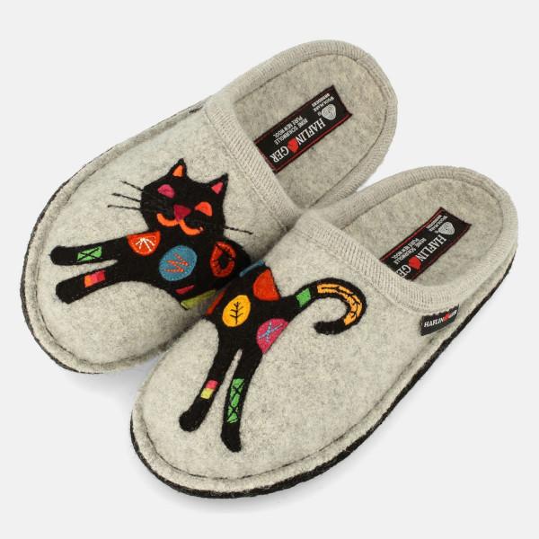 Winter-Hausschuhe für Damen mit Katzenmuster